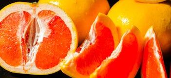 充分水多的果子柚,健康和自然快餐维生素 库存照片