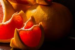 充分水多的果子柚,健康和自然快餐维生素 图库摄影