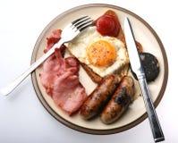 充分油煎的早餐 免版税库存图片