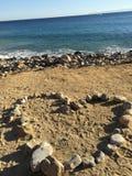 充分海滩石头 免版税图库摄影
