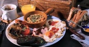 充分煮熟的英式早餐 免版税库存照片