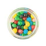 充分瓶子糖果球甜点 免版税图库摄影
