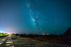 充分的夜空星形 库存照片