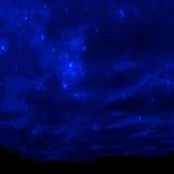 充分的天空星形 库存图片