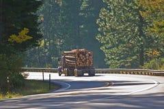 充分的拖拉记录的卡车 免版税库存照片