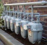 充分的气体歧管装置测量行 免版税库存图片