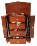 充分的珠宝衣物柜 免版税库存照片