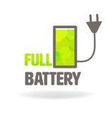 充分的电池充电象 皇族释放例证