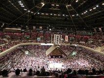 充分的相扑体育场在东京,日本 免版税图库摄影