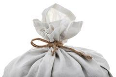 充分的绳索大袋附加的顶部白色 免版税库存照片