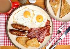 充分的英语油煎的早餐 免版税库存图片