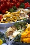 充分的表蔬菜 免版税图库摄影
