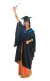充分的身体印地安大学生 免版税库存照片