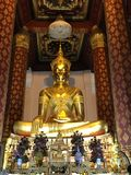 充分的金黄菩萨,泰国 库存照片