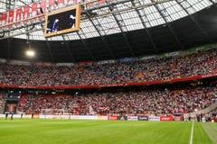 充分的阿姆斯特丹竞技场体育场的内部看法 免版税库存照片