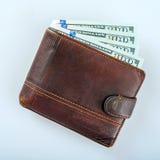 充分的货币钱包 图库摄影