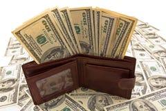 充分皮革钱包货币 图库摄影