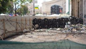 充分被操刀的围场垃圾 免版税库存图片