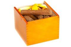 充分配件箱的雪茄 库存照片
