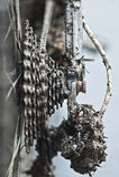 充分链子和齿轮与泥 图库摄影