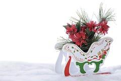 充分雪橇圣诞节叶子 库存图片