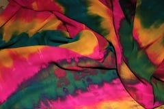 充满活力五颜六色的织品 库存图片