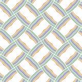 充满活力的抽象五颜六色的条纹排行滤网网样式背景 库存例证
