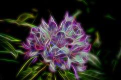 充满活力的桃红色和紫色霓虹抽象杜鹃花瓣,使用浅景深 向量例证