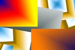 充满活力的颜色几何结构数字式艺术  免版税图库摄影