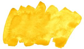 充满活力的黄色的时髦颜色水彩背景与锋利的边界和离婚的 r 向量例证