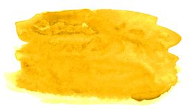 充满活力的黄色的时髦颜色水彩背景与锋利的边界和离婚的 r 皇族释放例证