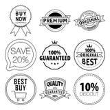 充满活力颜色宏伟的标签销售额集合的向量 免版税库存图片