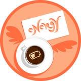 充电咖啡能源 库存图片