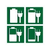 充电标志象 免版税图库摄影