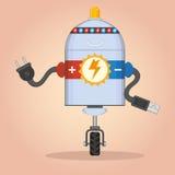 充电的机器人 图库摄影