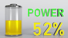 充电的电池显示动画 库存例证
