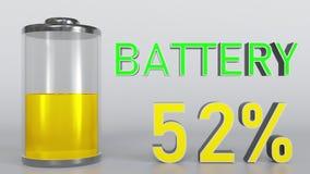 充电的电池显示 库存例证