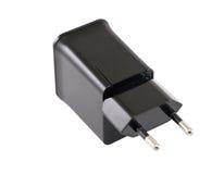 充电的电话AC适配器 免版税库存照片