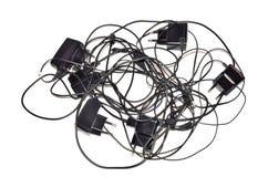 充电的缆绳 库存照片