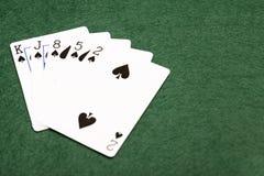 充足的纸牌游戏手- 图库摄影