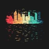 充满活力的城市标志 免版税库存照片