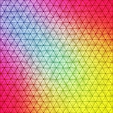 充满活力的多角形背景 库存例证