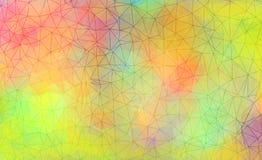 充满活力的多角形背景 向量例证