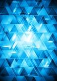 充满活力的蓝色高科技传染媒介设计 皇族释放例证