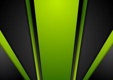 充满活力的绿色黑抽象背景 向量例证