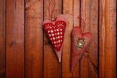 充满爱的两心脏 免版税库存照片