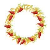 充满秋天心情的菜框架 收获季节装饰 Vec 免版税图库摄影