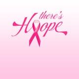充满词希望的桃红色乳腺癌丝带 库存照片
