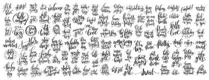 兆套100只手书面字法 向量例证