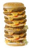 兆的乳酪汉堡 免版税库存照片